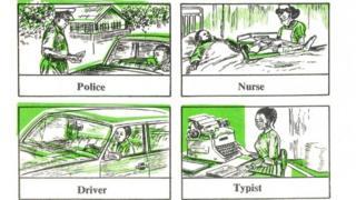Textbook showing gender stereotypes in Nigeria