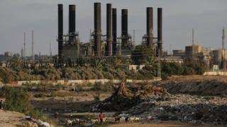 A general view of the Gaza Power Plant in the central Gaza Strip (14 June 2017)