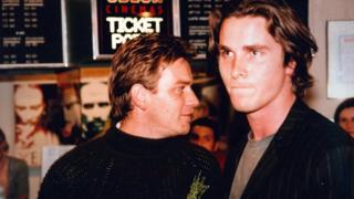 Ewan McGregor and Christian Bale at the festival with Velvet Goldmine in 1998