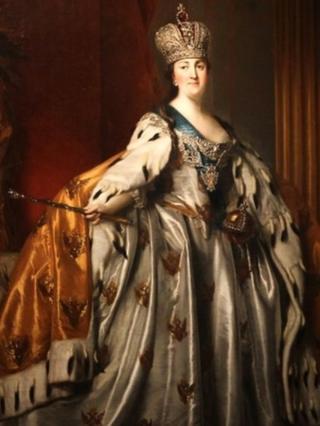 Екатерина II: портрет работы датского художника Виглуса Эриксена из Национального музея в Эдинбурге