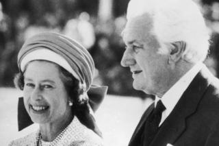 The Queen with then Governor-General Sir John Kerr in Perth on her Jubilee Tour of Australia in 1977