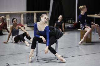 Abigail Cockrell and Northern Ballet dancers in rehearsals for Casanova