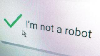 I'm not a robot - Captcha form