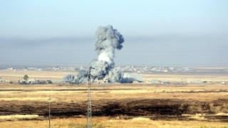 Атаки боевиков были отбиты при поддержке авиации коалиционных сил