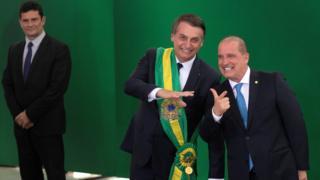 Sergio Moro, Bolsonaro e Onyx Lorenzoni