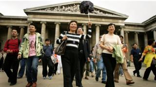 中國到英國的遊客