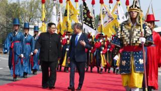उत्तर कोरिया आणि दक्षिण कोरिया भेट