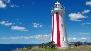 A lighthouse in Devonport, Tasmania