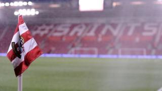 Corner flag at Southampton FC's ground