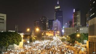 FireChat became popular with protestors in Hong Kong last year.