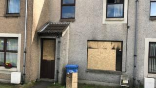 Six windows were also smashed at the property in the Meadow Park area