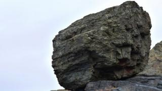 Roca en una playa del sureste de Inglaterra