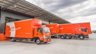 TNT trucks