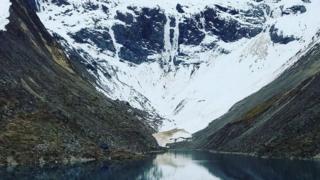 Lago en Cusco, Perú, llamado Humantay