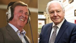 Sir Terry Wogan and Sir David Attenborough
