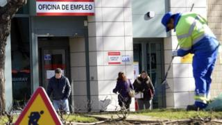 Unemployment office in Spain