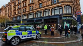 Police outside Harrods