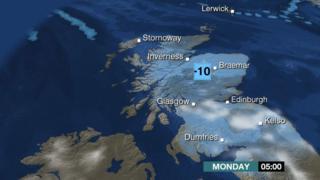 Weather map, BBC