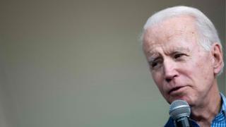 Joe Biden speaks during a rally in Conway, South Carolina