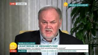 Thomas Markle speaking to ITV