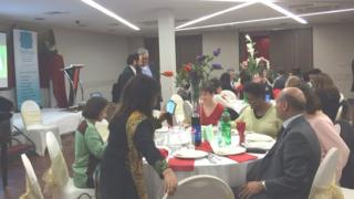Guests at the Pakistani Resource Centre 50th anniversary dinner in Manchester