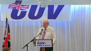 Jim Allister told his party conference that he has no immediate plans to step down as leader