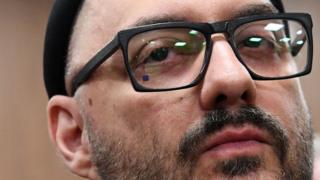 Russian stage and screen director Kirill Serebrennikov waits for the start of a hearing at a court in Moscow on November 7, 2018
