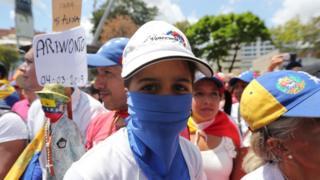 ဗင်နီဇွဲလား အတိုက်အခံ ဆန္ဒပြသူများ