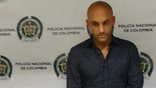 Photo of Diego Leon Osorio following is arrest in Medellin on 12 October 2016