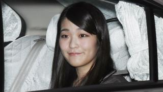 Japanese Princess Mako leaves her home in Tokyo on 18 May 2017