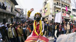 Holy man at the Kumbh