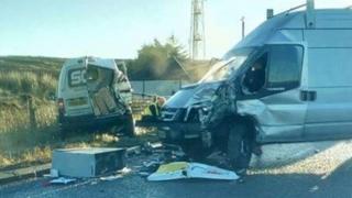 The crash happened on the Glenshane Road on Wednesday