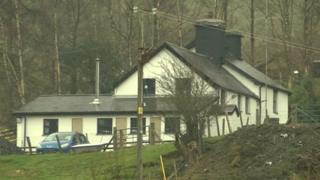 Murder scene near Machynlleth