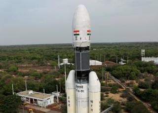 The rocket that will carry the Chandrayaan-2 satellite