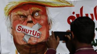 شهدت باكستان مظاهرات احتجاج ضد تعليقات الرئيس ترامب