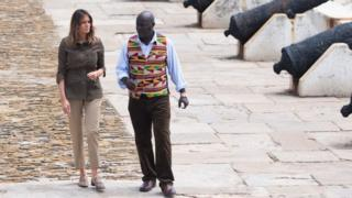 Melania Trump and museum director Kwesi Essel-Blankson