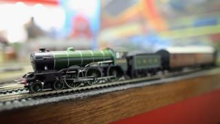 Hornby model train at an exhibition