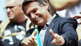 Jair Bolsonaro em evento de campanha