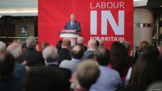 Alan Johnson launches Labour campaign to remain within the European Union