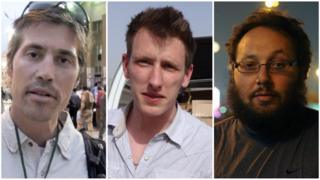 Composite image of the three US hostages