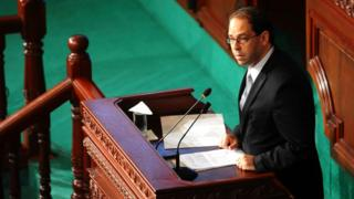 Waziri mkuu wa Tunisia Youssef Chahed