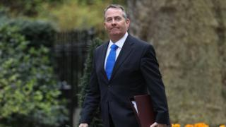 Liam Fox arriving for cabinet ahead of the triggering of Article 50