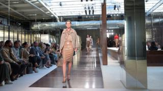 Celebrity burberry trench