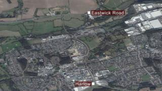 Map of Harlow