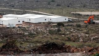 New prefabricated homes in the West Bank north of Ramallah. Photo: 31 January 2017
