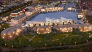 artist's impression of the Quays