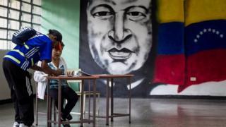 Votación en Venezuela.
