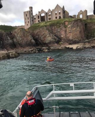 Lifeboats at Slains Castle