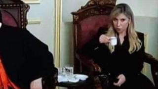 رولا الطبش أثناء تقديم العزاء برحيل البطريرك مار نصرالله بطرس صفير