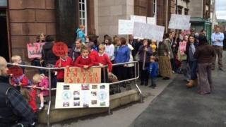 School closures protest